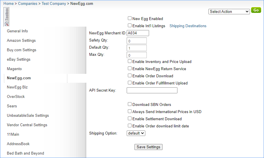 The image shows the NewEgg options in the original interface.