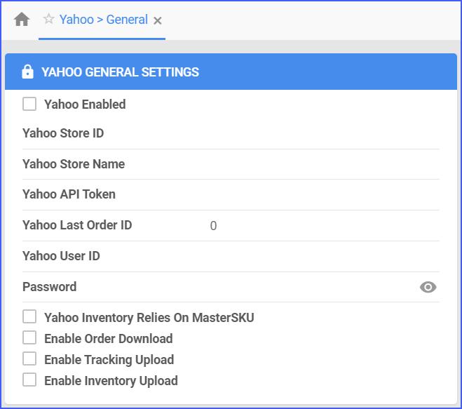 yahoo general settings sellercloud delta interface