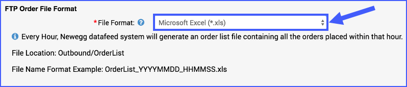 The image shows the File Format option