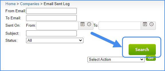 email sent log original interface email settings