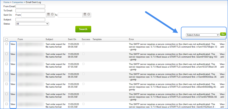email sent log original interface sellercloud