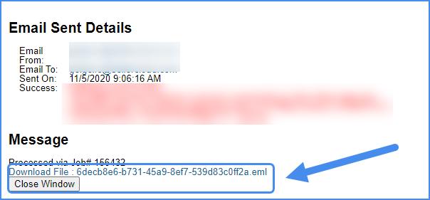 email sent log original interface