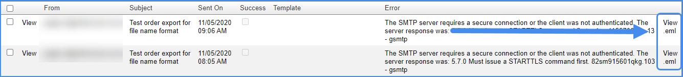 email sent log sellercloud original interface