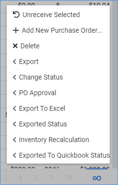 sellercloud manage pos action icon bulk po management