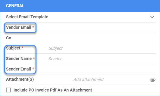 sellercloud managing pos send po via email
