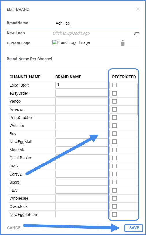 sellercloud channel restrictions