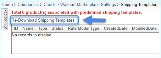Re-Download Shipping Templates link