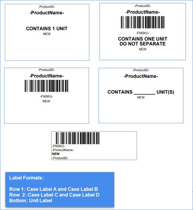 amazon label formats
