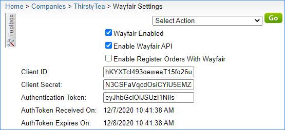 wayfair alpha general settings