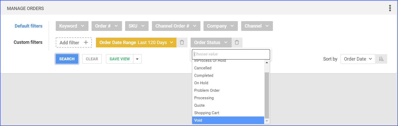 find void order in sellercloud delta