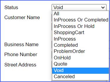 find void order sellercloud alpha