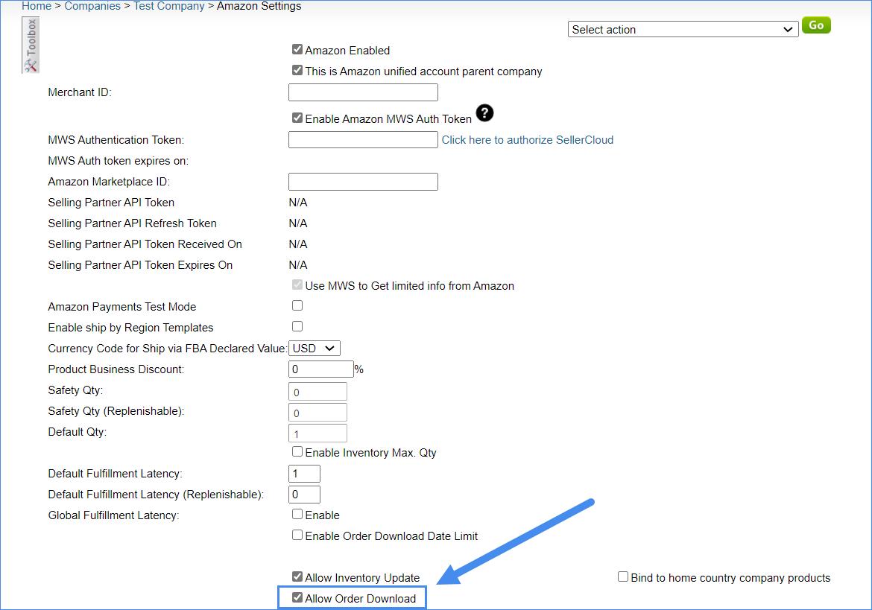 amazon order download sellercloud