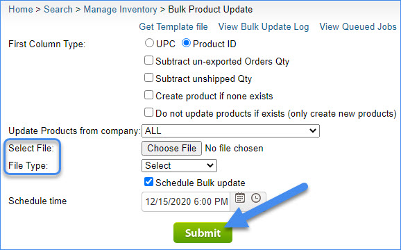 sellercloud alpha bulk update products map price