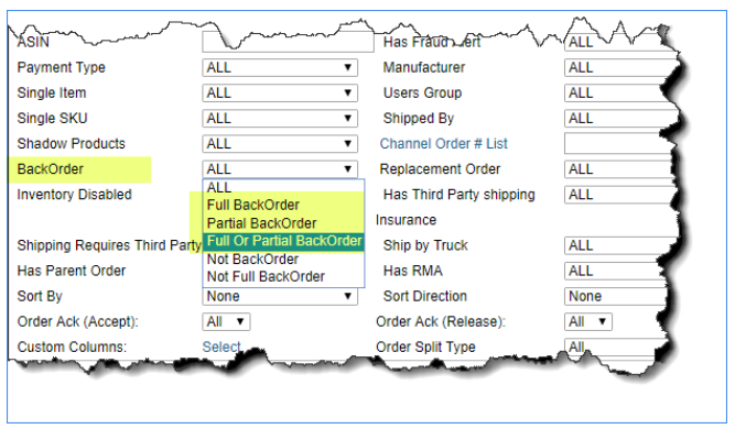 sellercloud alpha find backorders