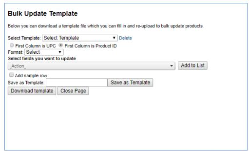 sellercloud alpha bulk update select template
