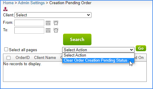 sellercloud order creation admin setting alpha creation pending order