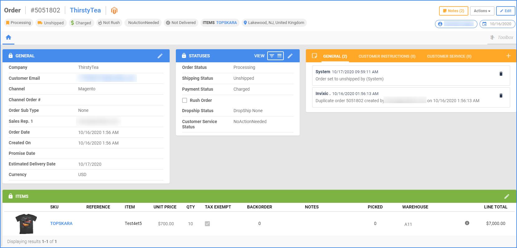 sellercloud delta order details page orders order management