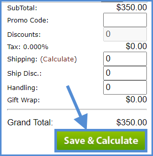 Save $ calculate for total panel in Alpha
