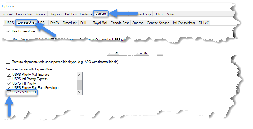 Adding the USPS APO/FPO services