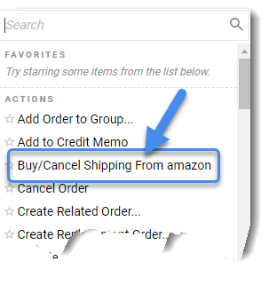 Buy/Cancel shipping from Amazon