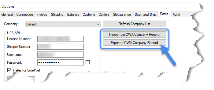 Importing/exporting credentials from/to Sellercloud