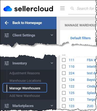 manage warehouses