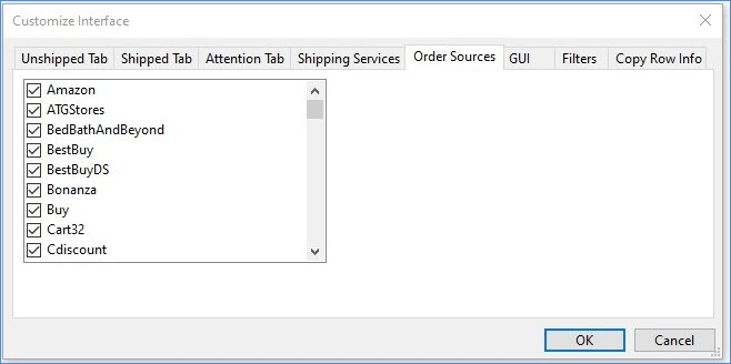 order source tab