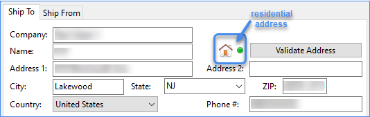 Residential address icon
