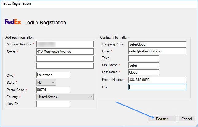 FedEdx Registration