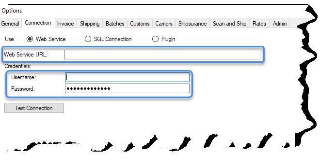 Providing web services URL