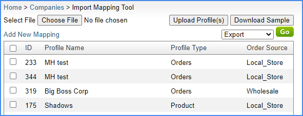 alpha import mapping tool