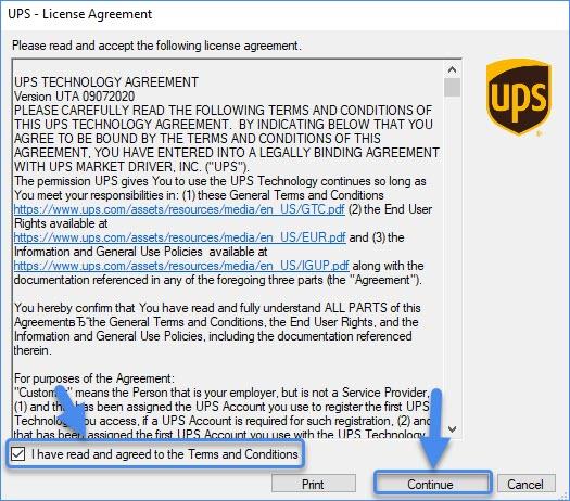 UPS license agreement