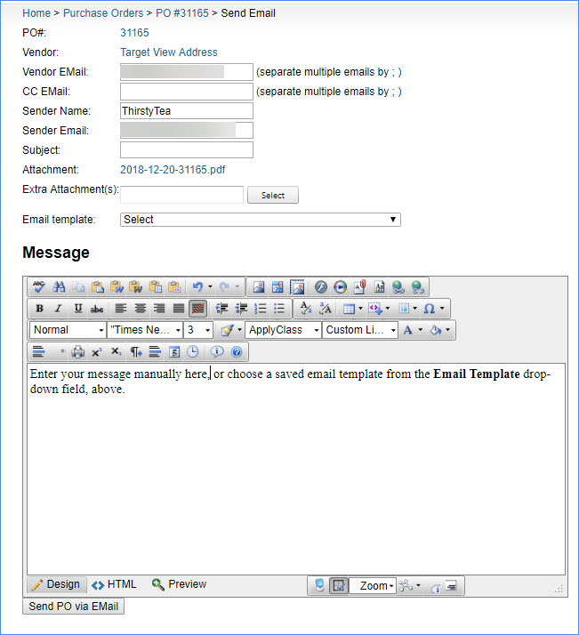 sellercloud email a po