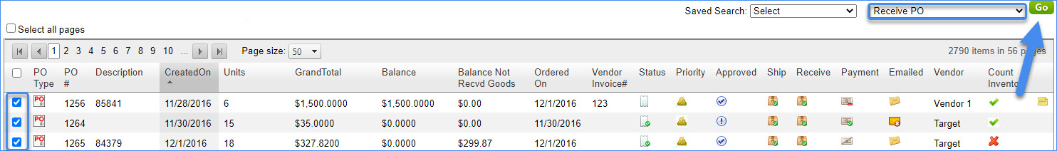 sellercloud inventory purchasing manage pos in bulk