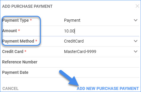 sellercloud apply payment to po