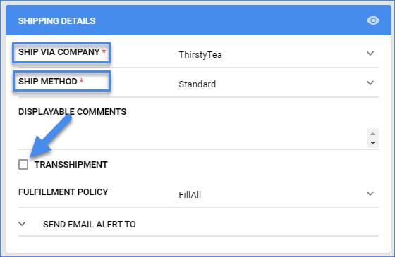 sellercloud order details ship via fba transshipment