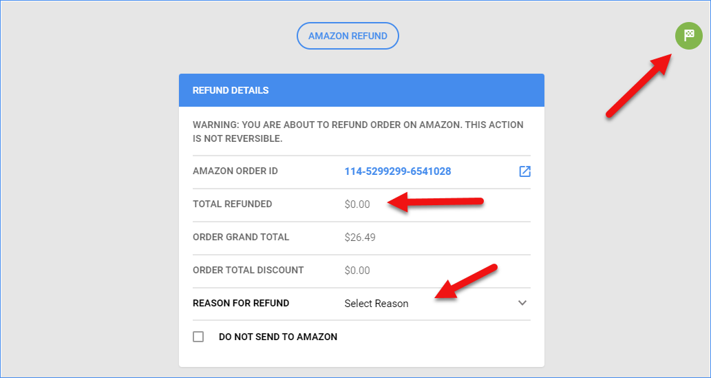 sellercloud amazon order refund function