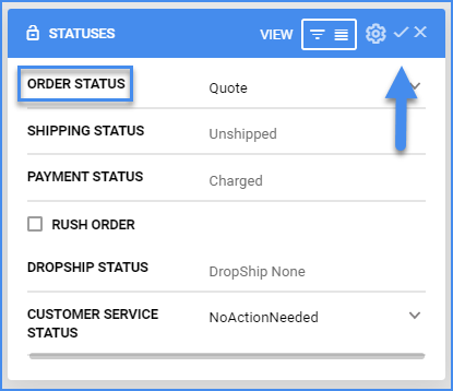 sellercloud order details page order status quote order
