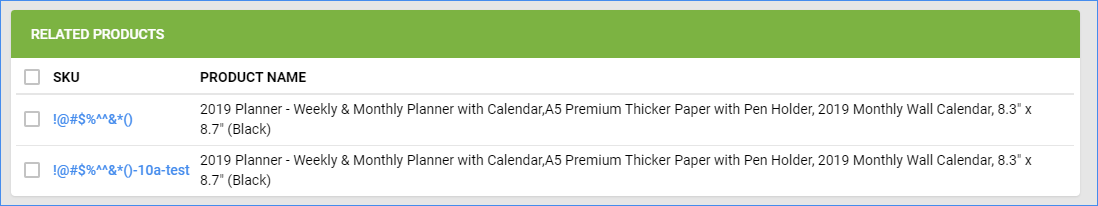 sellercloud related products weekly planner window