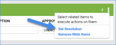 sellercloud rma details page set resolution