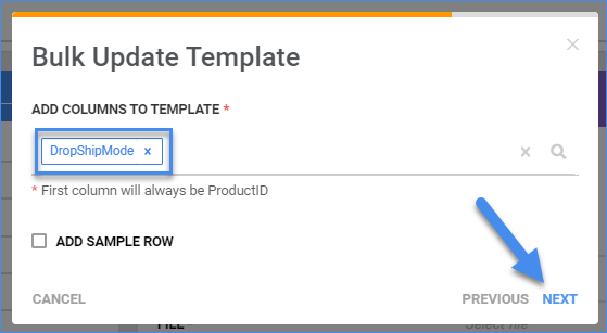 sellercloud catalog import product info bulk product update dropship mode