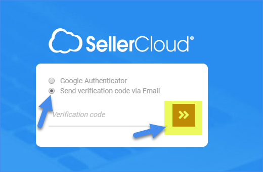 Delta - option to send authentication code by email