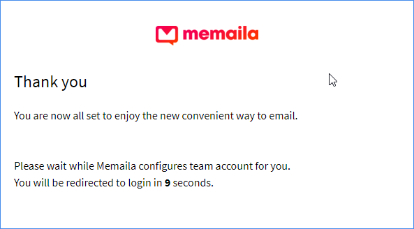 Memaila thank you email