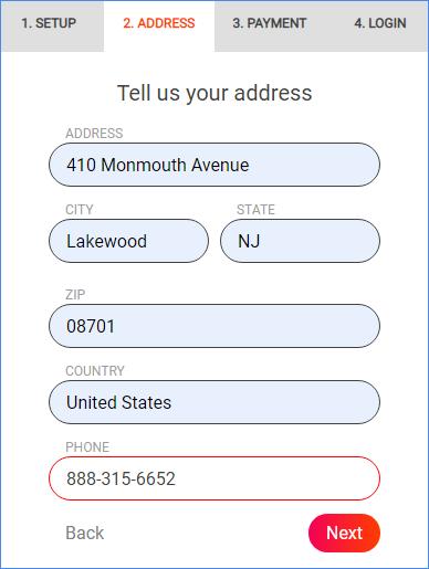 Company address info for Memaila