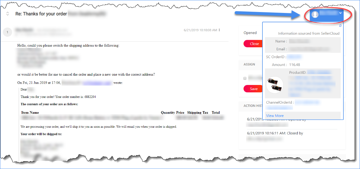 Memaila email's notes option for an order