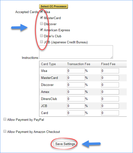 sellercloud accepted credit cards original interface