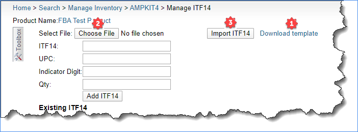 sellercloud import an itf14 barcode for a product
