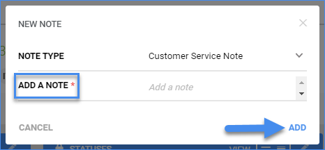 sellercloud order details customer service note add note