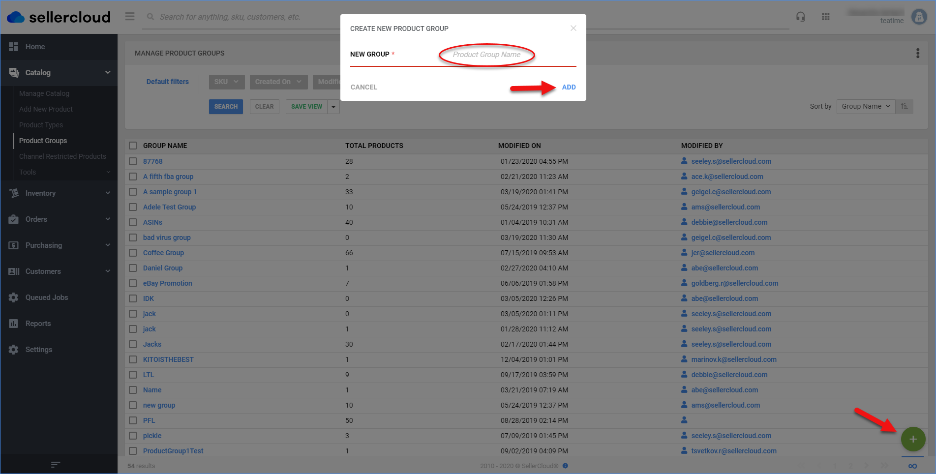 sellercloud product groups create new product group function