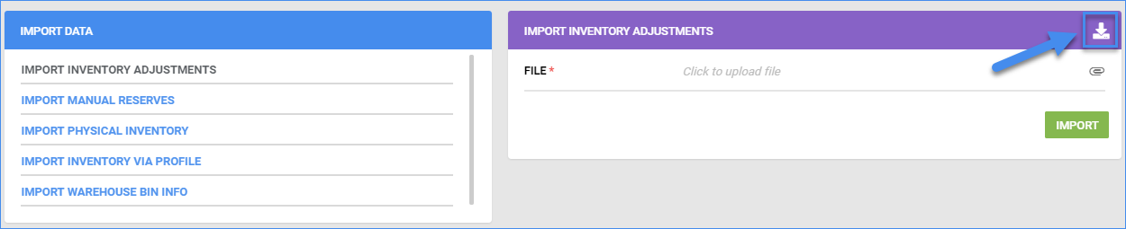 sellercloud inventory import inventory info import inventory adjustments